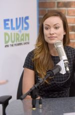 OLIVIA WILDE at The Elvis Duran Z100 Morning Show in New York