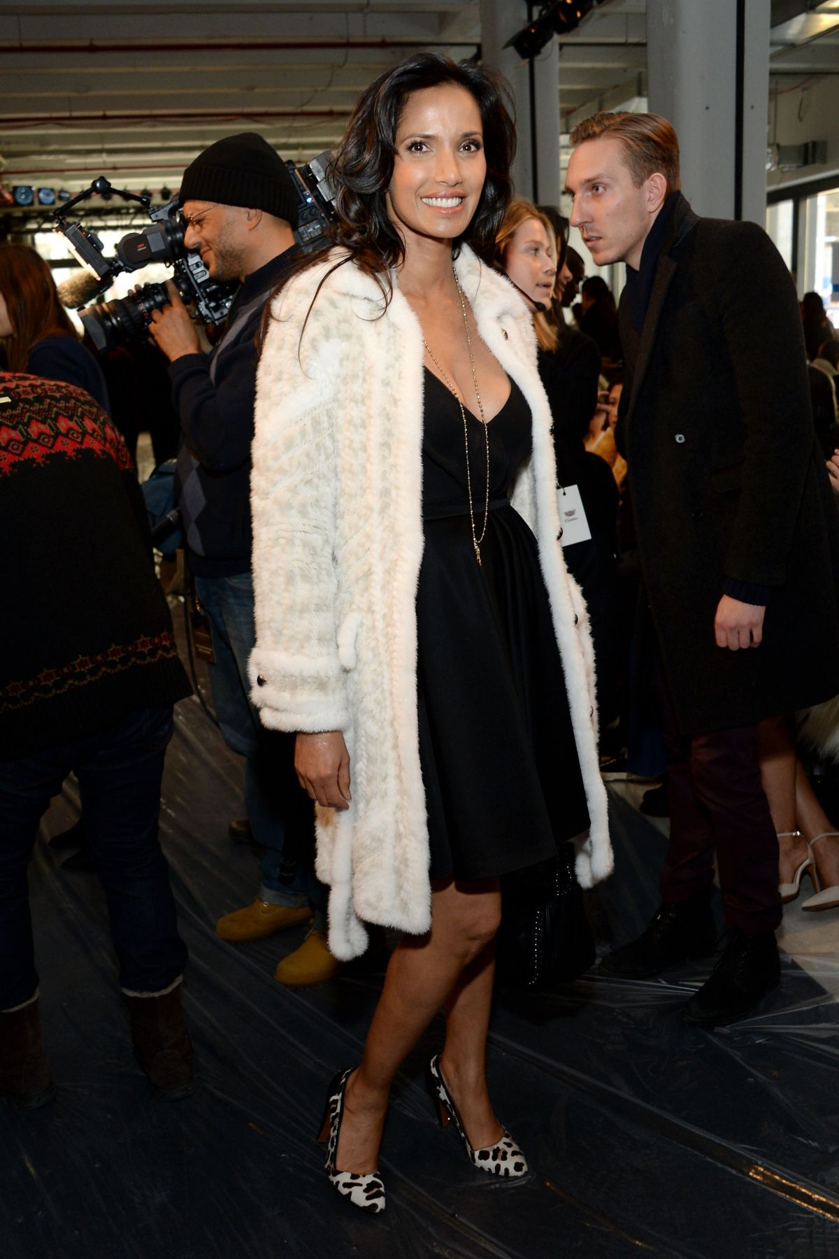 PADMA LAKSHMI at j. Mendel Fashion Show in New York