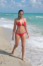 PADMA LAKSHMI in Bikini at a Beach in Miami