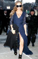 PARIS HILTON Arrives at Diane Von Furstenberg Fashin Show in New York
