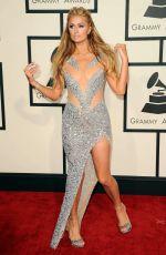 PARIS HILTON at 2015 Grammy Awards in Los Angeles