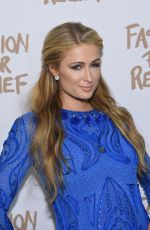 PARIS HILTON at Naomi Campbell's Fashion for Relif Charity Fashion Show in New York