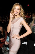 PETRA NEMCOVA at Herve Leger by Max Azria Fall 2015 Fashion Show in New York