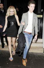 PIXIE LOTT Arrives at Ramusake Restaurant in South Kensington