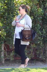 Pregnant HAYLIE DUFF Out and About in Los Angeles