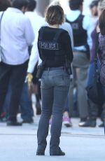 RACHEL MCADAMS on the Set of True Detective in Los Angeles