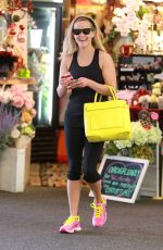 REESE WITHERSPOON in Leggings Leaves a Dance Studio in Brentwood 1402