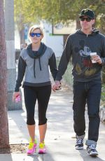 REESE WITHERSPOON in Leggings Out and About in Santa Monica 0602