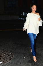 RIHANNA Out for Dinner in New York 1802