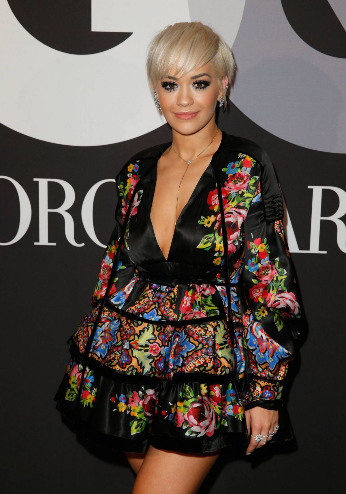RITA ORA at GQ and Giorgio Armani Grammys After Party in Hollywood
