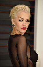 RITA ORA at Vanity Fair Oscar Party in Hollywood