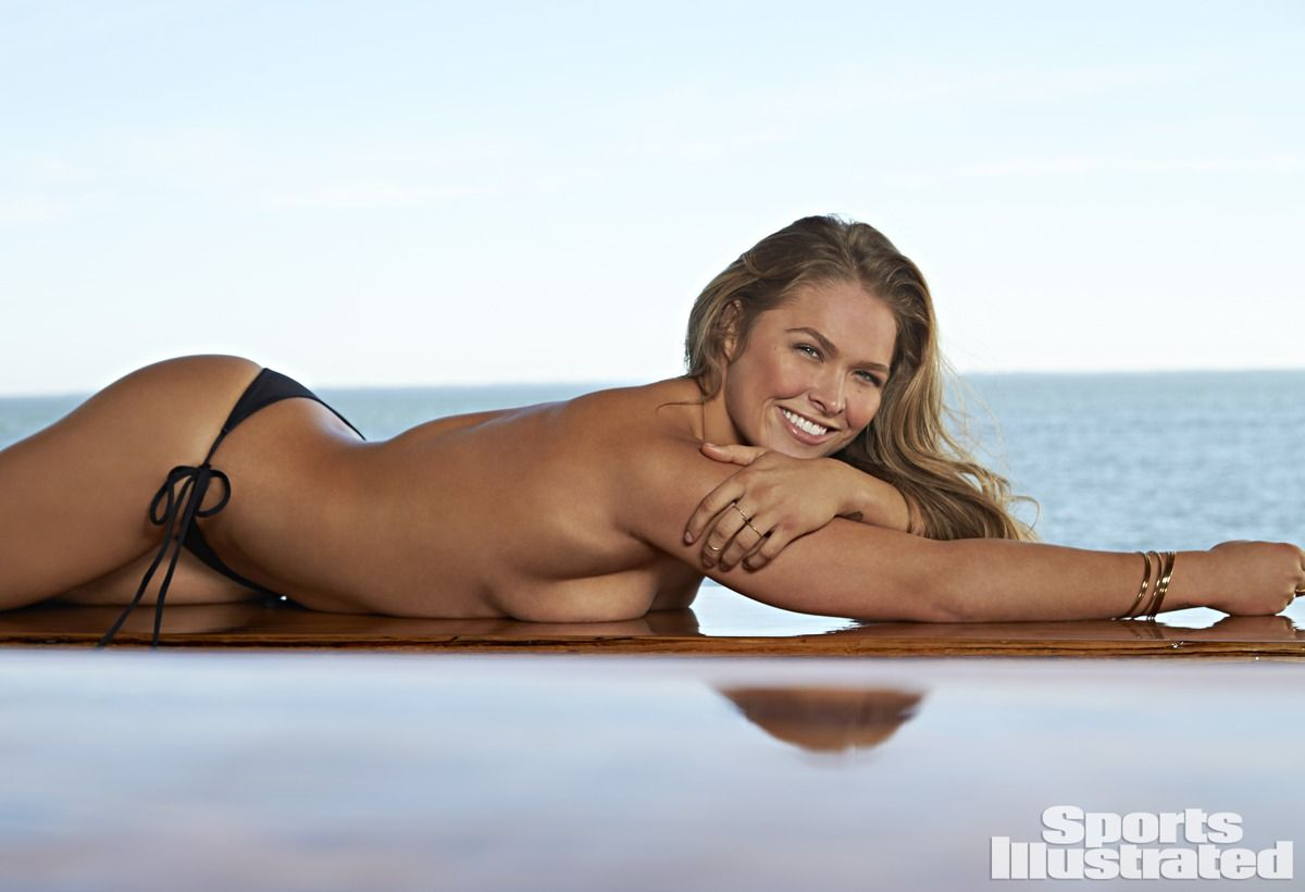 RONDA ROUSEY in Sports Illustrated Swimsuit 2015 Issue - HawtCelebs