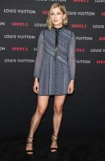 ROSAMUND PIKE at Louis Vuitton Series 2 Exhibition in Hollywood
