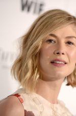 ROSAMUND PIKE at Women in Film Pre-oscar Cocktail Party in Los Angeles