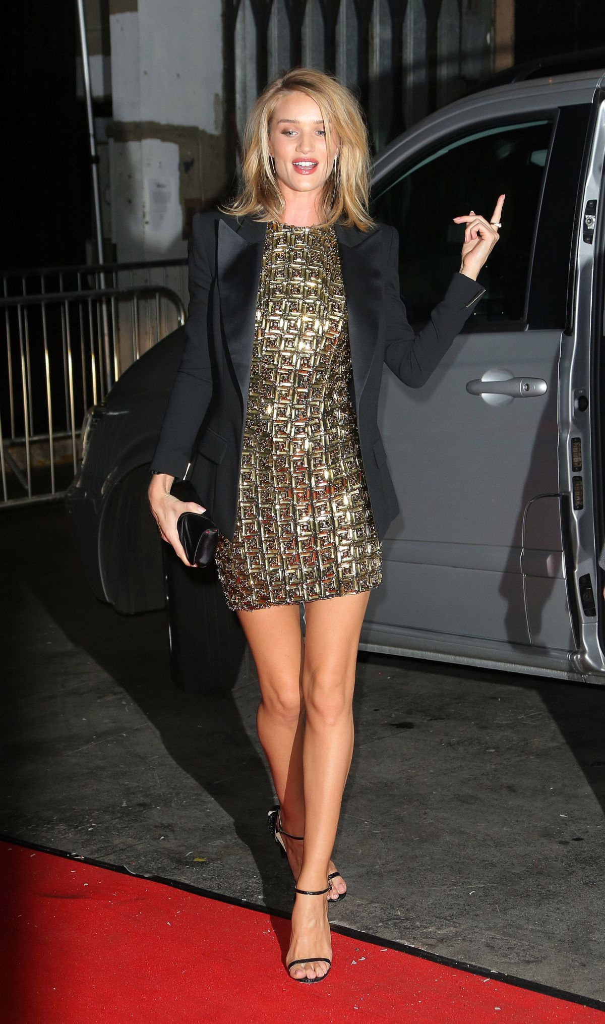 ROSIE HUNTINGTON-WHITELEY at Universal Music Brits Party in London
