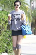 RUMER WILLIS in Short Skirt Out in Los Angeles