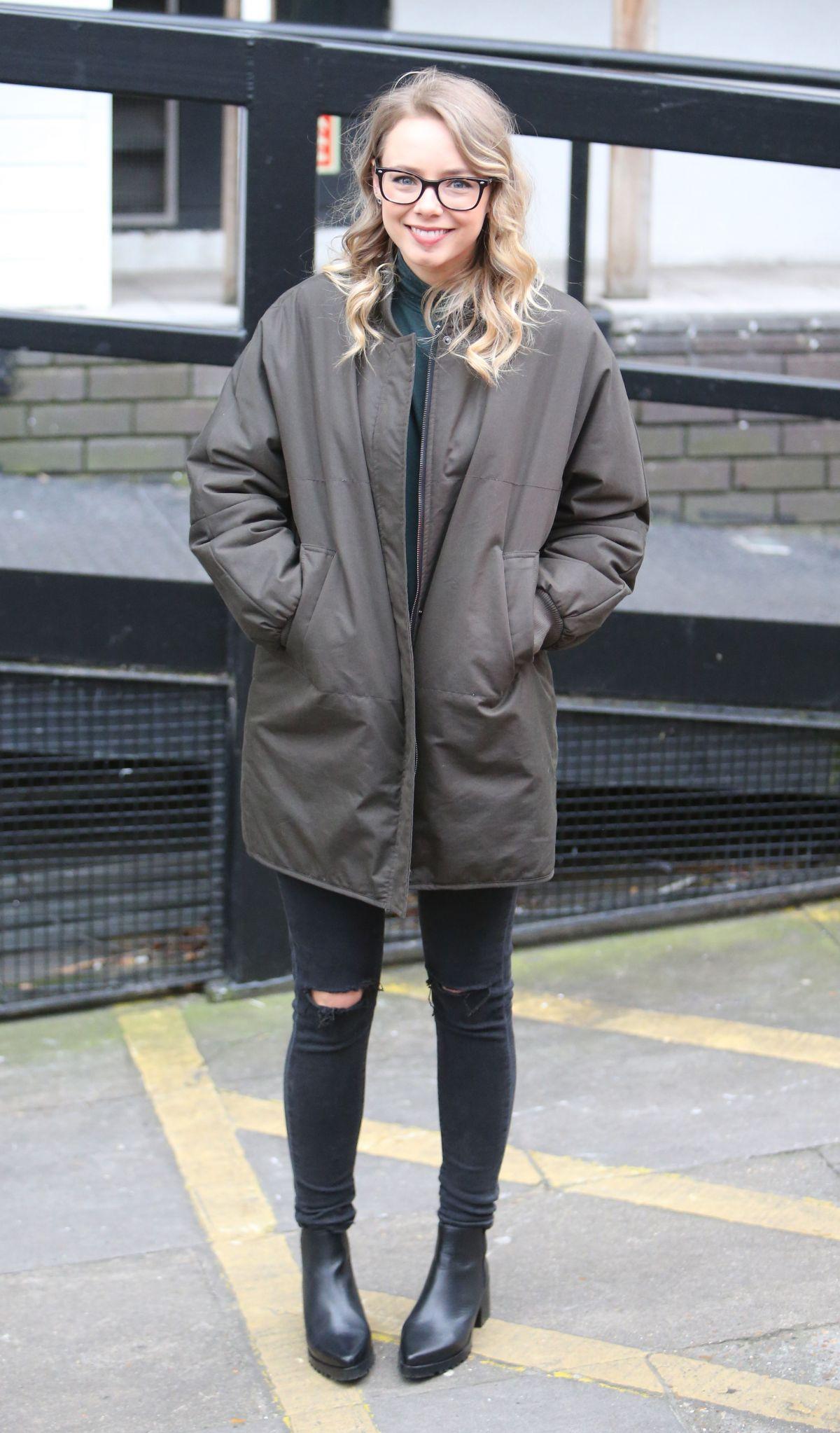 SACHA PARKINSON Leaves ITV Studio in London