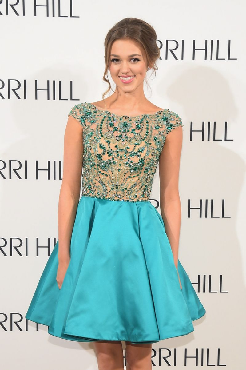 SADIE ROBERTSON at Sherri Hill Fashion Show in New York
