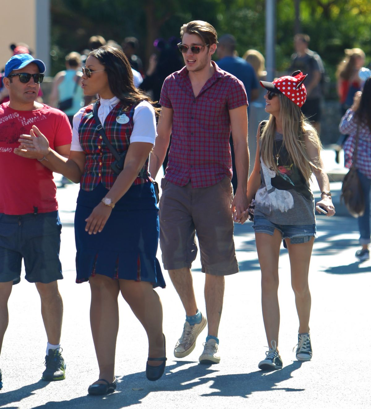 ... HYLAND and Dominic Sherwood Out Disneyland - HawtCelebs - HawtCelebs