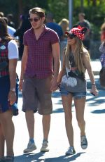 SARAH HYLAND and Dominic Sherwood Out Disneyland