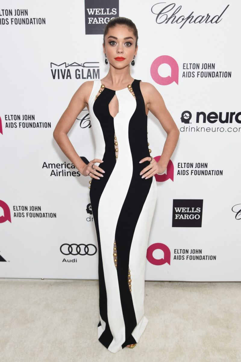 SARAH HYLAND at Elton John Aids Foundation's Oscar Viewing Party