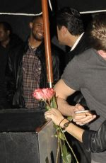 SARAH HYLAND nad Matt Prokop Leaves Warwick Nightclub in Hollywood