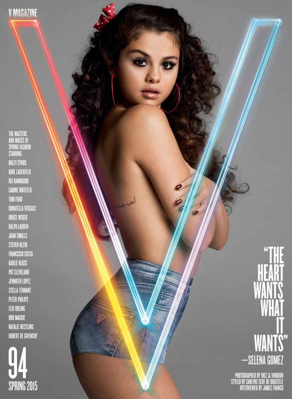 SELENA GOMEZ in V Magazine, Spring 2015 Issue