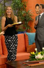 SOFIA VRGARA on the Set of Despierta America in Miami