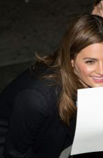STANA KATIC Arrives at Jimmy Kimmel Live in Hollywood