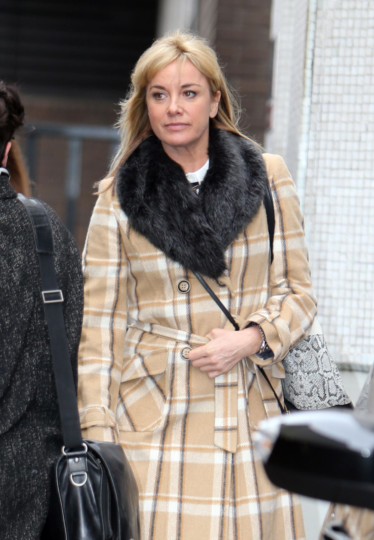 TAMZIN OUTHWAITE Leaves ITV Studios in London 1602
