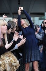 TAYLOR SWIFT Arrives at BBC Radio 1 Studios in London 2402