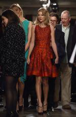 TAYLOR SWIFT at Oscar De La Renta Fashion Show in New York