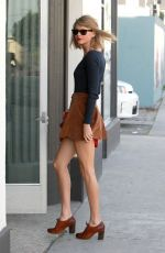 TAYLOR SWIFT in Short Skirt Out and About in West Hollywood 0302