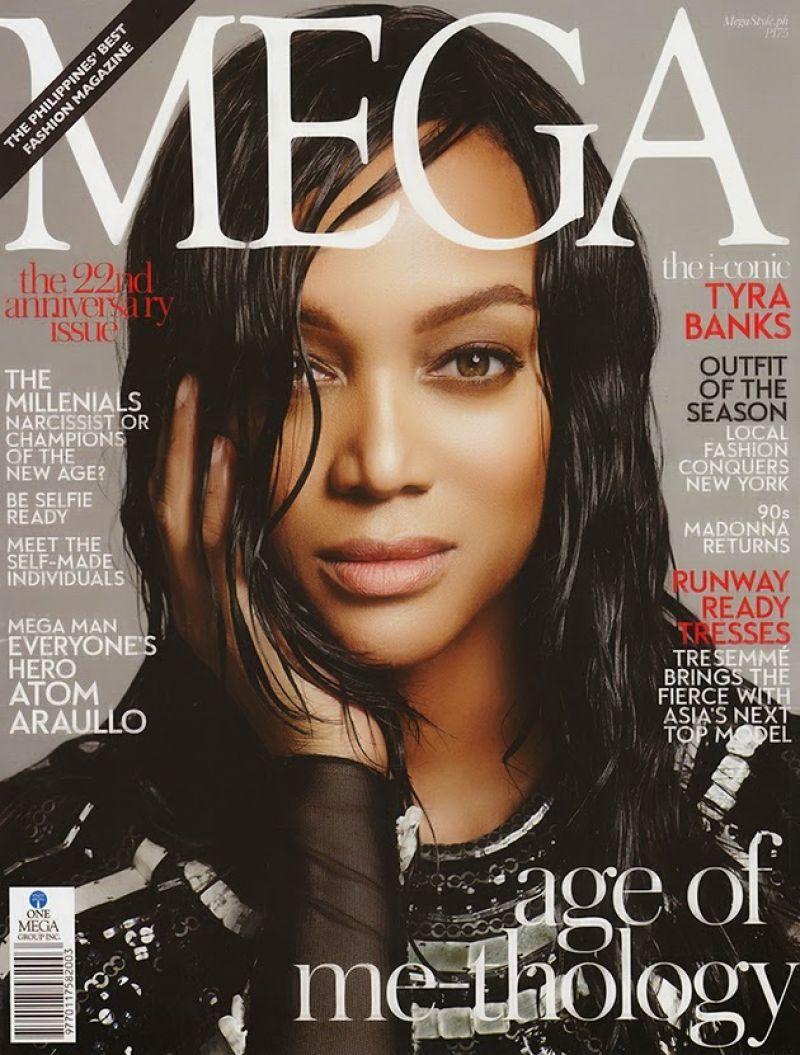 TYRA BANKS in Mega Magazine, February 2014 Issue
