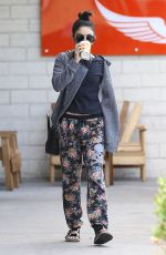 VANESSA HUDGENS Leaves Intelligentsia Coffee in Los Angeles