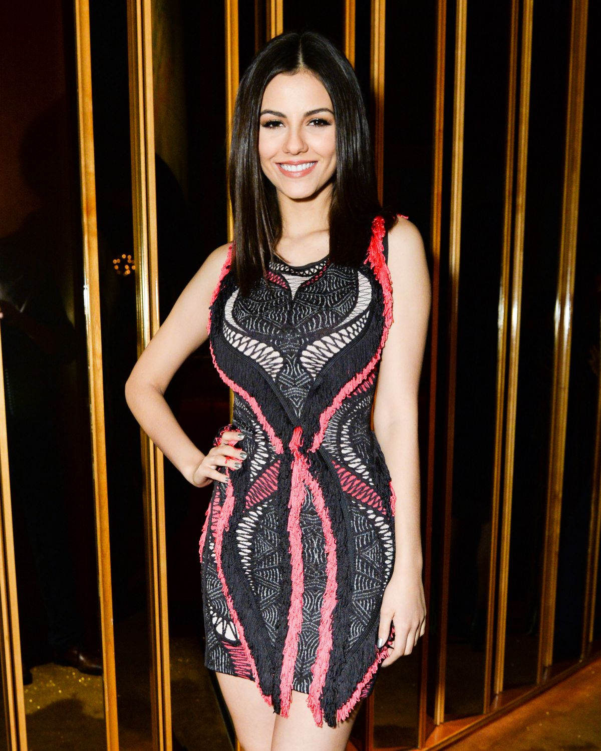 VICTORIA JUSTICE at Bcbgmaxazria & the Daily Front Row Celebrate New York Fashion Week