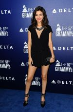 VICTORIA JUSTICE at Delta Air Lines Grammy Kick-off Party in West Hollywood