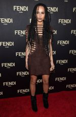 ZOE KRAVITZ at Fendi New York Flagship Boutique Party at MBFW in New York