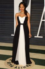 ZOE SALDANA at Vanity Fair Oscar Party in Hollywood