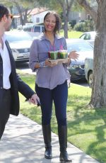 ZOE SALDANA Out and About in Los Angeles 2502