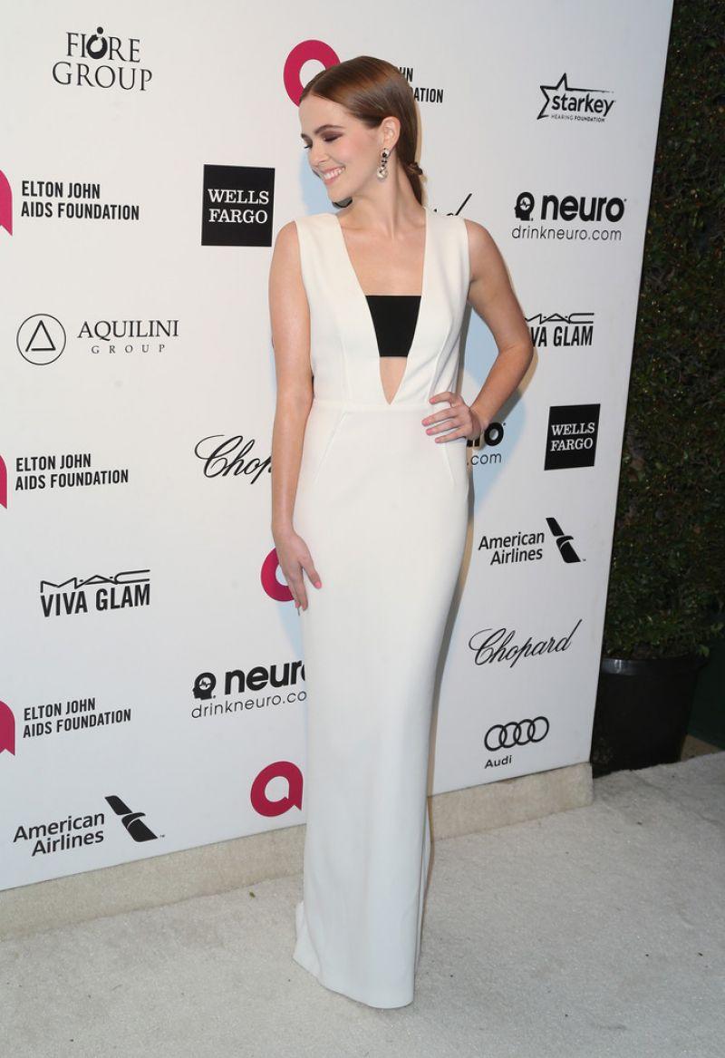 ZOEY DEUTCH at Elton John Aids Foundation's Oscar Viewing Party