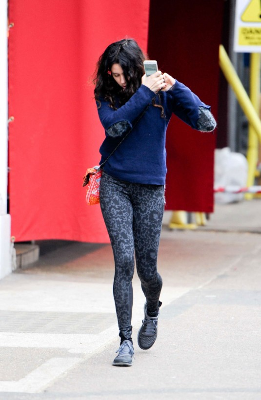ELIZA DOOLITTLE in Tights Heading to a Gym