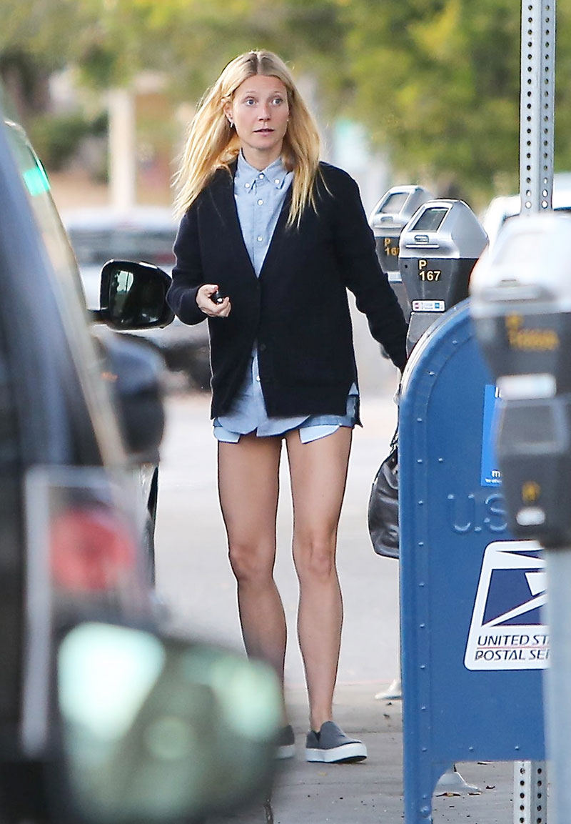 Gwyneth Paltrow In Shorts Out In Los Angeles Hawtcelebs