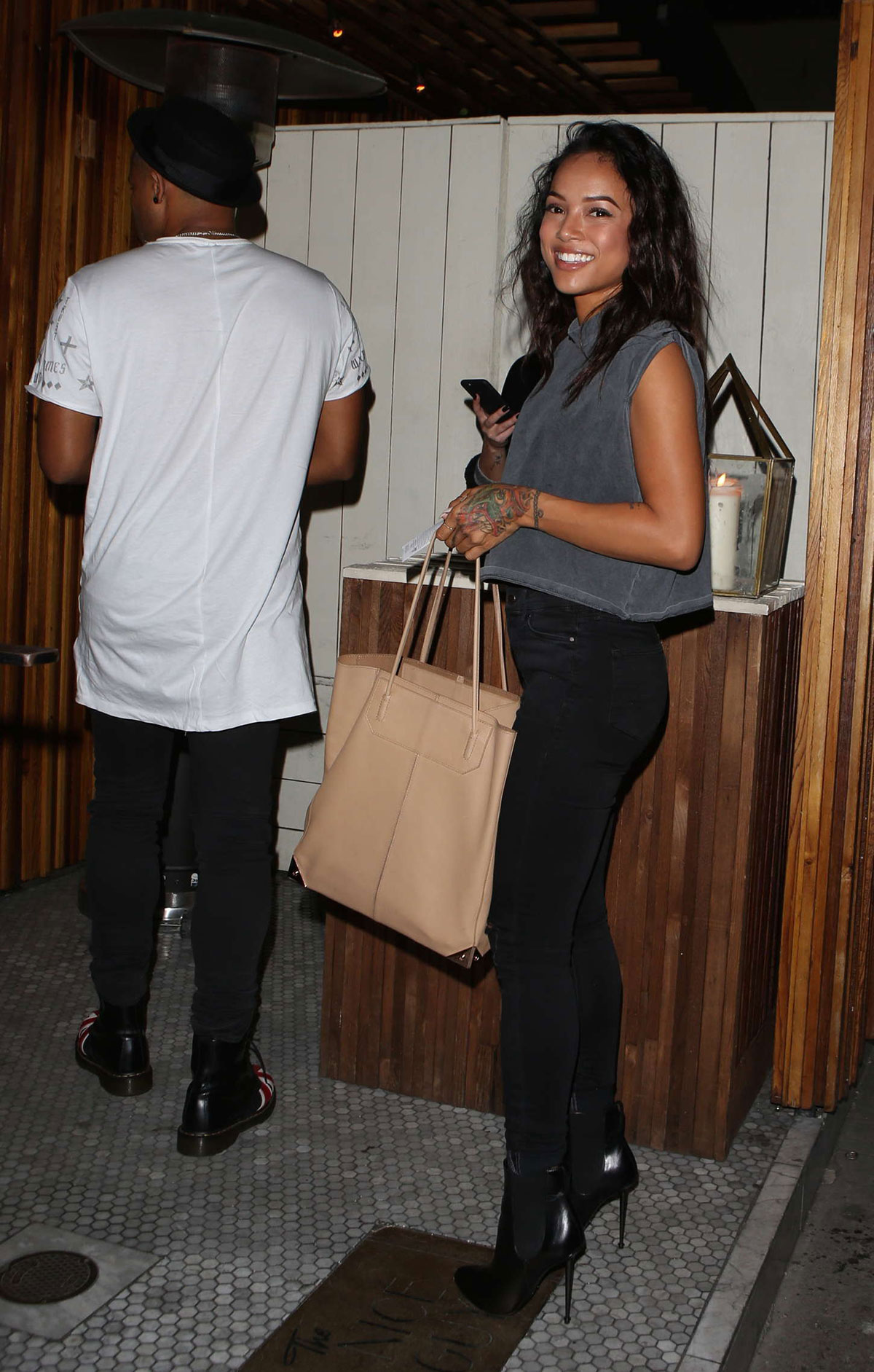 Watch Karrueche tran leaving the nice guy club in la video