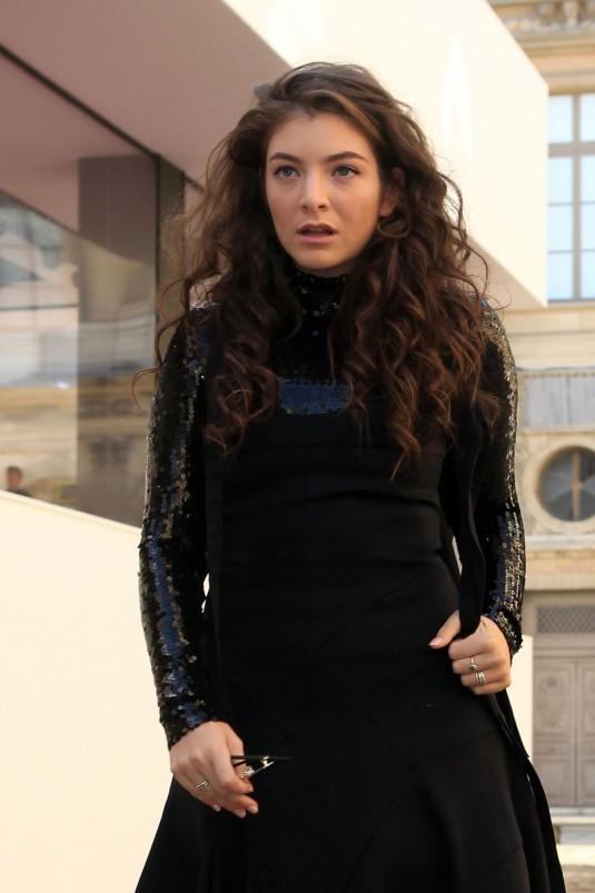 LORDE at Christian Dior Fashion Show