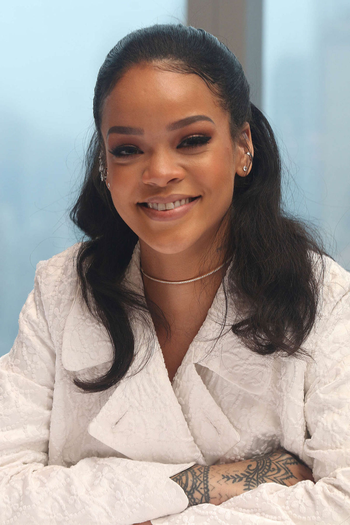 Rihanna At Home Press Conference In New York Hawtcelebs
