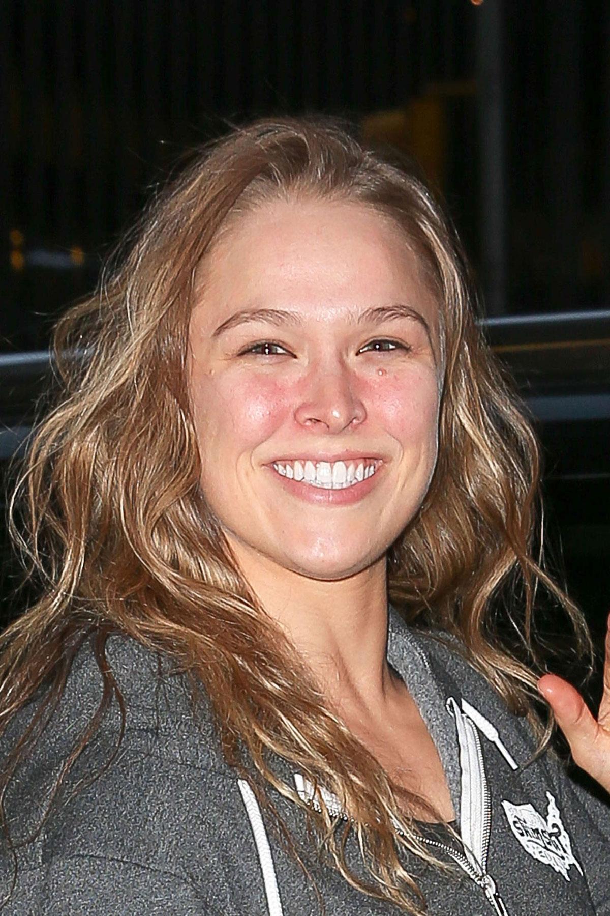 Ronda Rousey Leaves Nbc Studios In New York Hawtcelebs