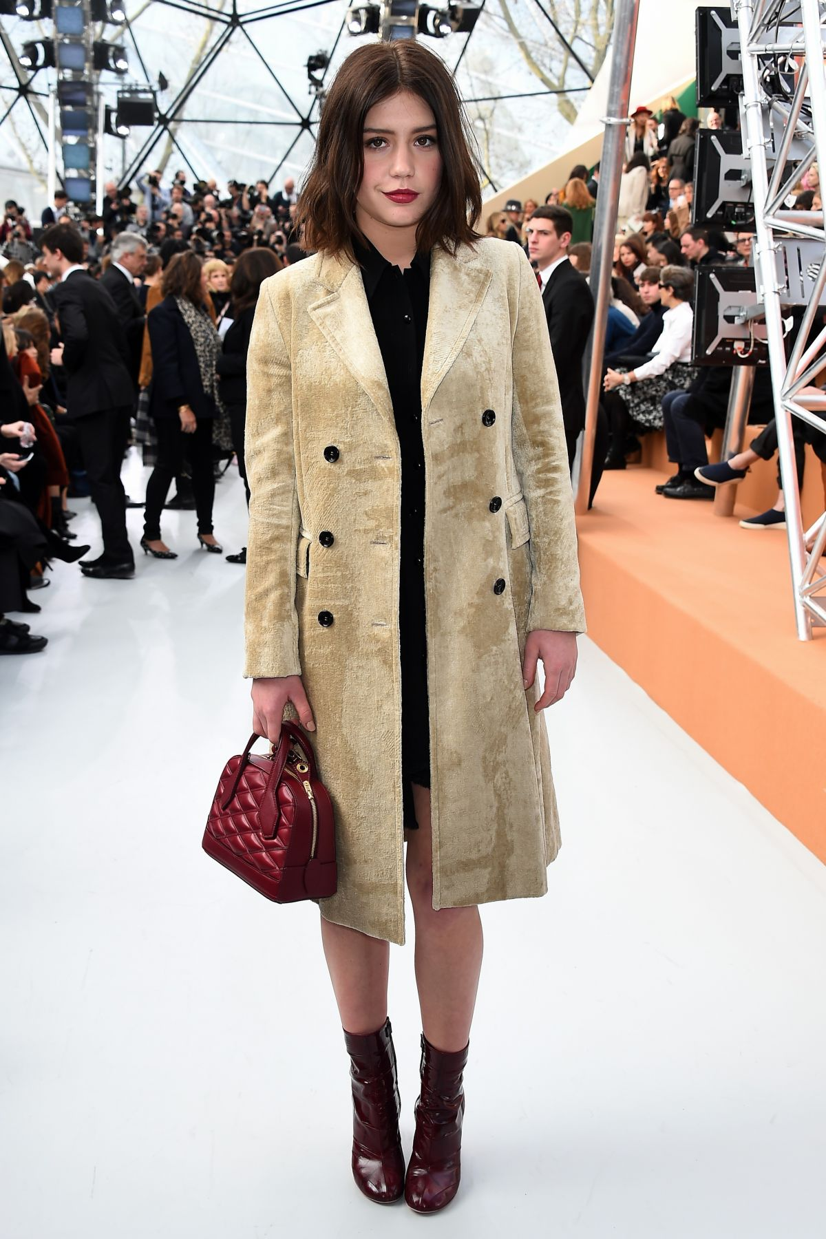 ADELE EXARCHOPOULOS at Louis Vuitton Fashion Show in Paris