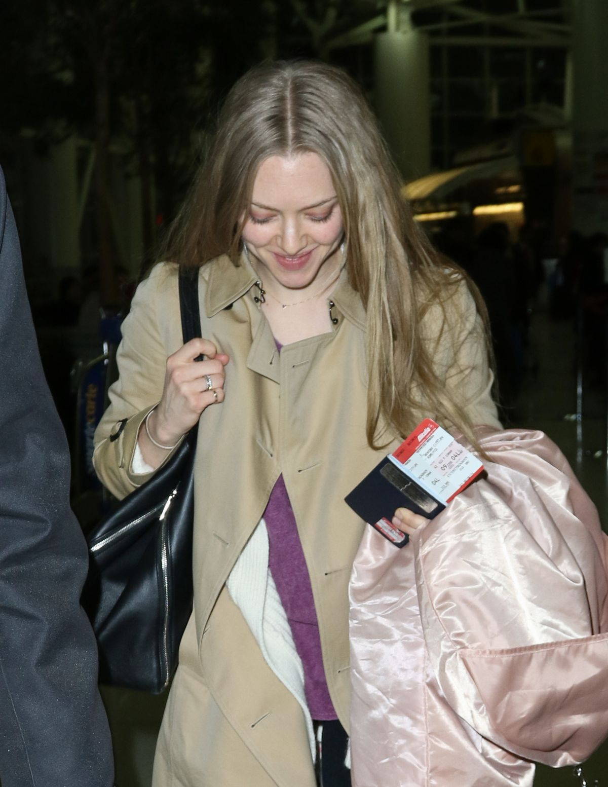 AMANDA SEYFRIED Arrives at JFK Airport in New York 2302