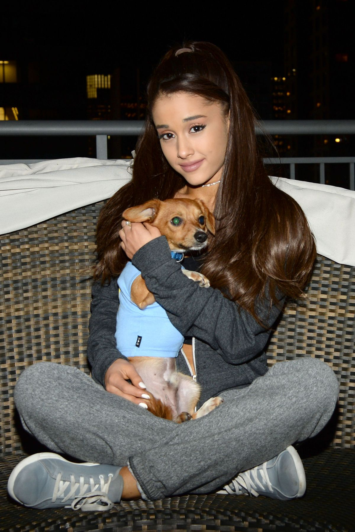 ARIANA GRANDE at Badass Brooklyn Animal Rescue Adoption